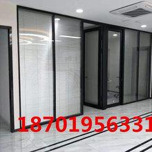 上海辦公室玻璃隔斷鋁合金鋼化玻璃高隔斷寫字樓玻璃隔斷帶百葉圖片