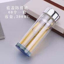 直銷定制印logo廣告禮品玻璃杯雙層水杯促銷贈品茶杯定做印字