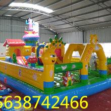 玩具游乐设施充气蹦蹦床室外大型充气城堡儿童乐园气包气垫厂图片