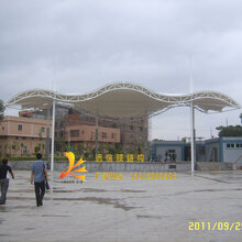 广东新农村建设张拉膜舞台社区文化广场施工舞台钢膜结构