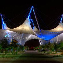 直供广西沙滩公园景观张拉膜结构、泳池遮阳棚膜结构