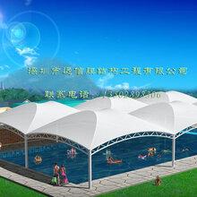 供应网球场膜结构游泳池张拉膜遮阳篷室外游泳馆膜结构顶篷泳池张拉膜材料加工