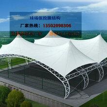 设计安装篮球场膜结构雨棚球场钢膜结构顶篷网球场膜结构厂家