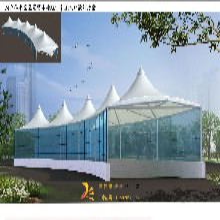厂家直销中庭膜结构遮阳棚施工裙楼中空膜结构雨棚商业中空膜结构