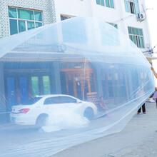 青岛厂家定做大型pe塑料方底袋工业材料机械设备防尘保护罩图片