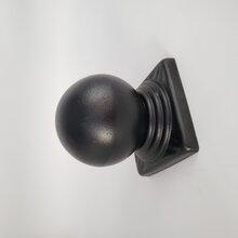 鋅鋼欄桿方管球形柱頭方管球帽圖片