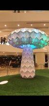 七彩发光蘑菇树互动道具蘑菇树