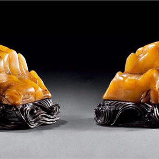 田黄雕狮钮方章10930505945