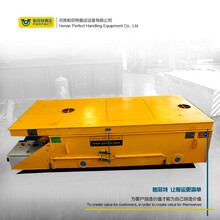 倉庫遙控平板車KPJ卷筒供電式電鐵路平板車電動運輸車有軌平臺車圖片
