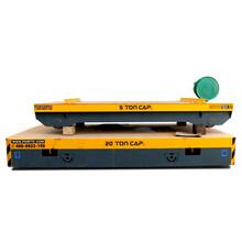 蓄電池導軌運輸平板車軌道電動搬運車鋼包車鐵路小車軌道過跨車圖片