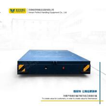 过跨车减速机驱动蓄电池轨道电动平车车间物料转运平板车搬运车图片