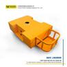 10噸靈活轉向包膠輪搬運車工業車間搬運大噸位無軌膠輪電動平板車