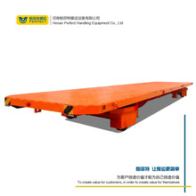 鐵路軌道平板車鋼結構輪子蓄電池供電軌道電動臺車車間轉運設備圖片