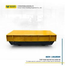 鐵路四輪車大型物體搬運有軌平板電動車滑觸線軌道搬運電動轉運車圖片