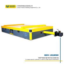工业轨道车铁路曲线自由转向有轨电动平车蓄电池供电平板搬运车图片