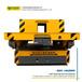 帕菲特KPX型蓄電池供電系列軌道平車可轉彎電動平車廠家