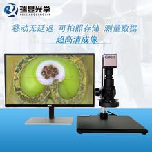 視頻顯微鏡HDMI高清拍照測量顯微鏡30-200倍工業顯微鏡圖片