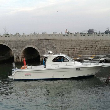 大连玻璃钢钓鱼快艇11米玻璃钢专业钓鱼船