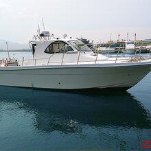 爱钓鱼高端钓鱼船品牌厂家直销玻璃钢快艇11米专业钓鱼艇图片