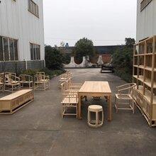 成都禅意新中式家具定制,紫檀面红木腿圆桌,红木云石面螺钿圆桌图片