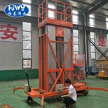 许昌市6m桅柱式高空作业台移动升降机图片