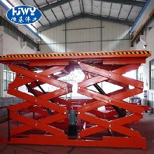 厂家固定剪叉式升降机电动液压小型升降平台卸货平台货梯旋转舞台图片