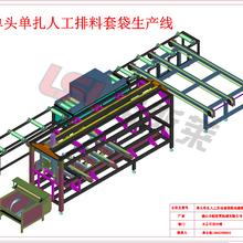 四川朗斯莱2米材料自动套膜套袋多功能包装机图片
