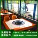 欢腾科技厂家直销现代简约烤涮一体烧烤桌子广安烧烤火锅桌定制
