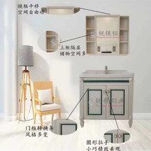 铝合金浴室柜挂墙式现代简约卫室柜洗脸盆组合全铝家居衣柜铝材批发