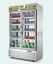 重庆双门展示柜/下置机组展示柜/啤酒饮料展示柜