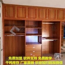 厂家直销全铝家居仿木纹铝合金衣柜铝材批发整体衣柜型材图片