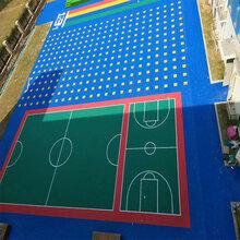 河北石家庄篮球场悬浮拼装运动地板拼装地垫厂家图片