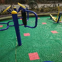 加工定制蓝色双米悬浮式运动地板体育悬浮篮球地板悬浮拼接地板图片