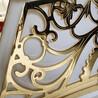 古铜色铝板雕花护栏铝艺整体雕花护栏
