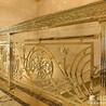 雕花钛金纯铜旋转护栏铜板整体玫瑰金护栏