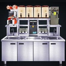 郑州冰冬商橱水吧台专卖奶茶操作台厂家直销图片