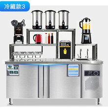 郑州冰冬商橱水吧台专卖奶茶操作台原装现货图片