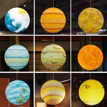 北欧灯具创意个性圆球客餐厅样板间装饰酒店咖啡厅灯星球吊灯图片