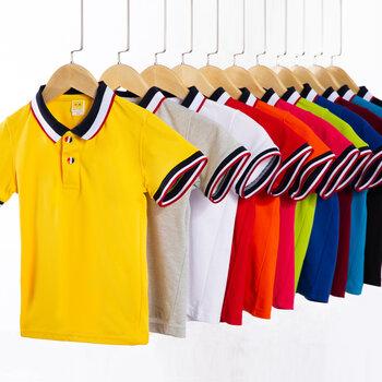 武漢童裝Polo衫訂制,廣告T恤衫印花,班服T恤Polo衫廠家