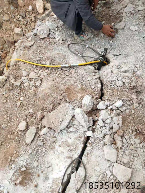 江蘇淮安鉀礦開采石頭巖石靜態劈裂開石設備廠家電話