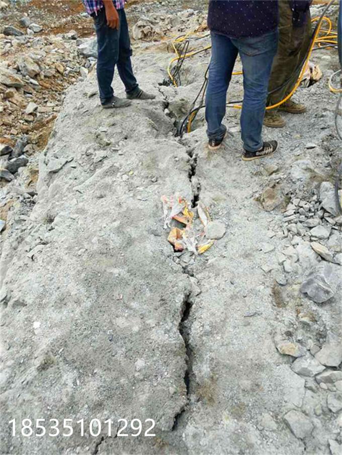 福建廈門基坑開挖巖石劈裂設備無聲破石劈裂機哪家專業