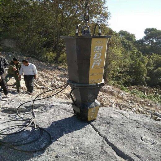 廣東礦山開采遇到巖石分裂機劈裂機,裂石機