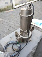 不锈钢污水排放泵_进口材质_抽取微酸弱碱污水图片