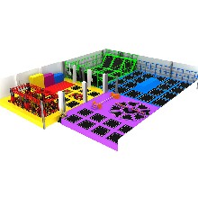 大型室内商场蹦床公园游乐设备淘气堡定制组合超级蹦床儿童乐园图片