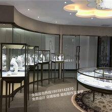 卡地亚珠宝展示柜定制厂家不锈钢玉器饰品展柜展厅装修