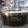 香港金珠寶展示柜定制廠家圓形珠寶展示柜
