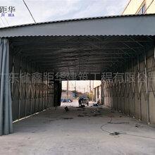 渝中鑫建华定制大型推拉雨棚、汽车遮阳蓬多年技术