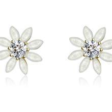 新款S925纯银饰品耳饰时尚韩版耳钉花朵银耳环首饰工厂直销批发图片