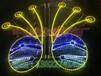 孔雀開屏造型燈亮化眾熠生產