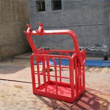 浙江嘉兴高空货运吊篮两人施工吊车吊篮铝合金吊车专用顶框定做图片